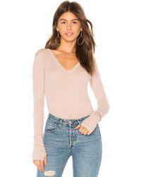 Enza Costa - Cashmere Cuffed Sweater - Lyst