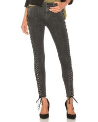 Hudson Jeans - The Stevie Midrise Lace Up Skinny - Lyst