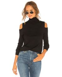680e82ba11 525 America - Cutout Shoulder Turtleneck In Black - Lyst