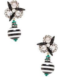 Elizabeth Cole - Drop Earring In Black. - Lyst