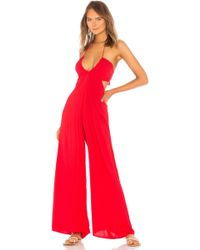 Indah - Jagger Flare Jumpsuit In Red - Lyst