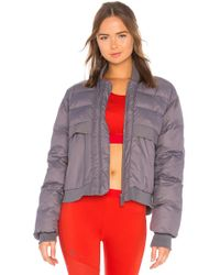 0dca386c6947 adidas By Stella McCartney - Essentials Short Padded Jacket In Grey - Lyst