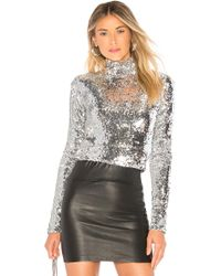 MILLY - Sequins Turtleneck - Lyst