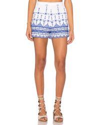 Bardot - Santorini Embroidered Shorts - Lyst