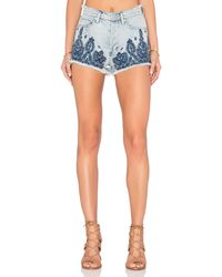 Blank - Embroidered Short - Lyst