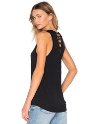 4daee55349 David Lerner - Lace Up Back Muscle Tank - Lyst