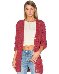For Love & Lemons - Knitz Mulberry Cotton-Blend Cardigan - Lyst