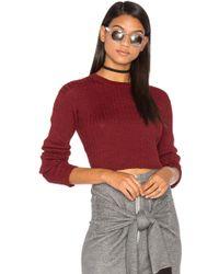 Frankie - Rib Cropped Sweater - Lyst