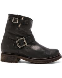 Frye - Valerie 6 Buckled Leather Boots  - Lyst