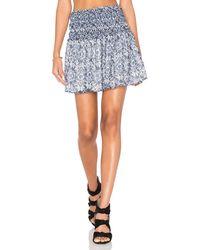 Greylin - Jessalyn Smocked Printed Skirt - Lyst