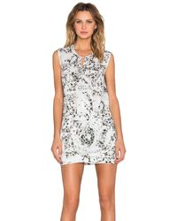 IKKS - Patterned Mini Dress - Lyst