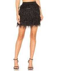Line & Dot - Keira Ostrich Skirt - Lyst
