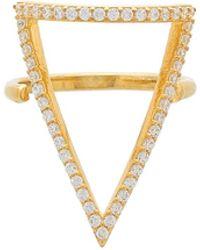 Natalie B. Jewelry - Ottoman Pave Bermuda Triangle Ring - Lyst