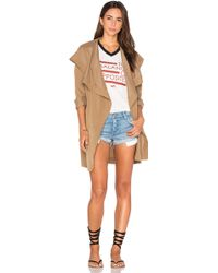 RVCA - Drape Me A River Trench Coat - Lyst
