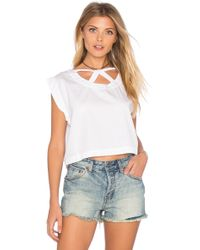 Tejido - Cut Out Crop Top - Lyst