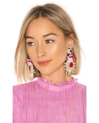 Ranjana Khan - Lovina Earrings In Pink. - Lyst