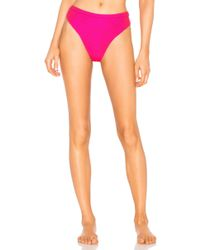 Beach Bunny - X Revolve Emerson Rib Tide High Waist Bikini Bottom - Lyst