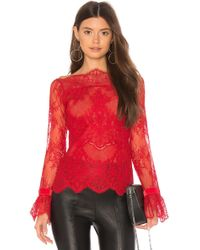 MAJORELLE - Samantha Top In Red - Lyst