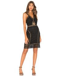Endless Rose Lace And Grommet Dress - Black