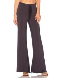 Olympia Theodora - Golden Wide Leg Pant - Lyst