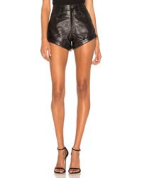 LPA - Leather Relaxed Cuff Short - Lyst
