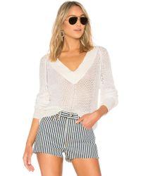 Rag & Bone - Jaimie V-neck Sweater In Ivory - Lyst