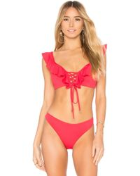 Agua Bendita - Camila Bikini Top In Red - Lyst