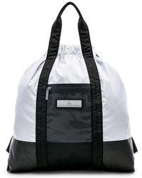 Lyst - Adidas By Stella Mccartney Small Printed Gym Bag in Black e4a82eea897aa