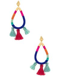 Rebecca Minkoff - Tubular Thread Wrapped Earrings - Lyst