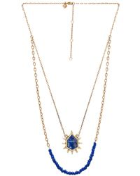 Rebecca Minkoff - Burst Double Row Necklace - Lyst