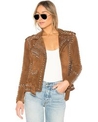 Urban Outfitters - X Revolve Studded Easy Rider Jacket In Brown - Lyst