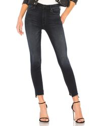 Mother | The Stunner Zip Two Step Fray Jean | Lyst