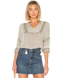 Amuse Society - Lakefront Woven Top In White - Lyst