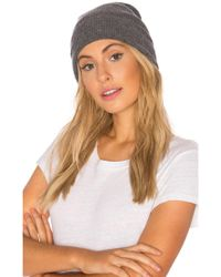 27milesmalibu - Binx Ribbed Beanie In Grey. - Lyst