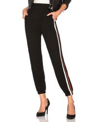 Bobi - Terry Athletic Stripe Jogger In Black - Lyst
