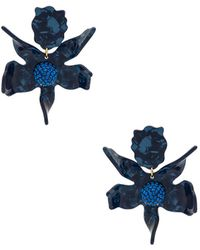 Lele Sadoughi - Crystal Lily Earring In Blue. - Lyst
