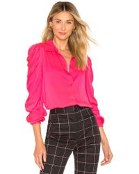 MILLY - Blusa charlie en color fucsia - Lyst