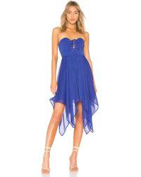 House of Harlow 1960 - X Revolve Emmanuelle Dress In Blue - Lyst
