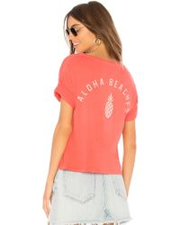 Amuse Society - Aloha Beaches Tee In Coral - Lyst