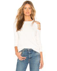 Lamade - Easton Slash Sweatshirt In White - Lyst