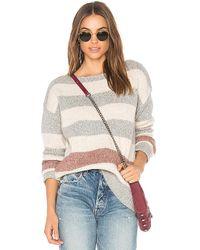 White + Warren - Bold Stripe Bateauneck Sweater - Lyst