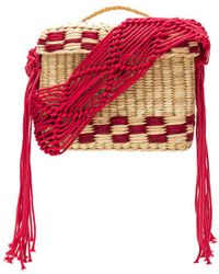Nannacay - Roge Small Macrame Strap Bag In Red. - Lyst