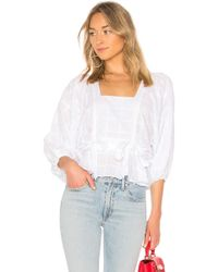 Parker - Eliana Combo Top In White - Lyst