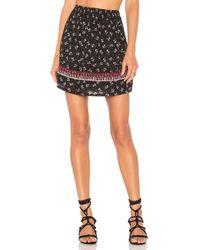 Ella Moss - Embroidered Ruffle Skirt - Lyst