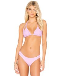 Luli Fama - Reversible Cut Out Bikini Top - Lyst