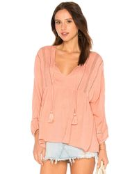 Amuse Society - Cool Breeze Top In Pink - Lyst