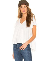 Free People - All You Need Tee In Ivory - Lyst