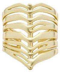 Kendra Scott - Liv Ring In Metallic Gold. - Lyst