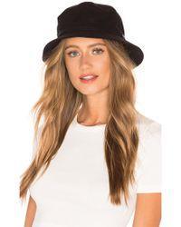 Brixton - Burroughs Bucket Hat In Black - Lyst 7b32ead5e5d