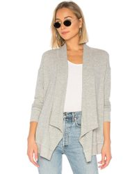 Michael Stars - Open Front Cardi In Gray - Lyst